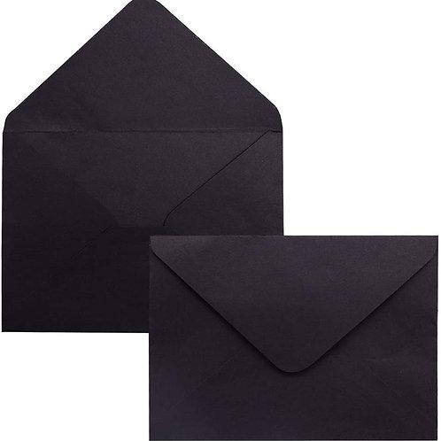 Enveloppe C6 Noire
