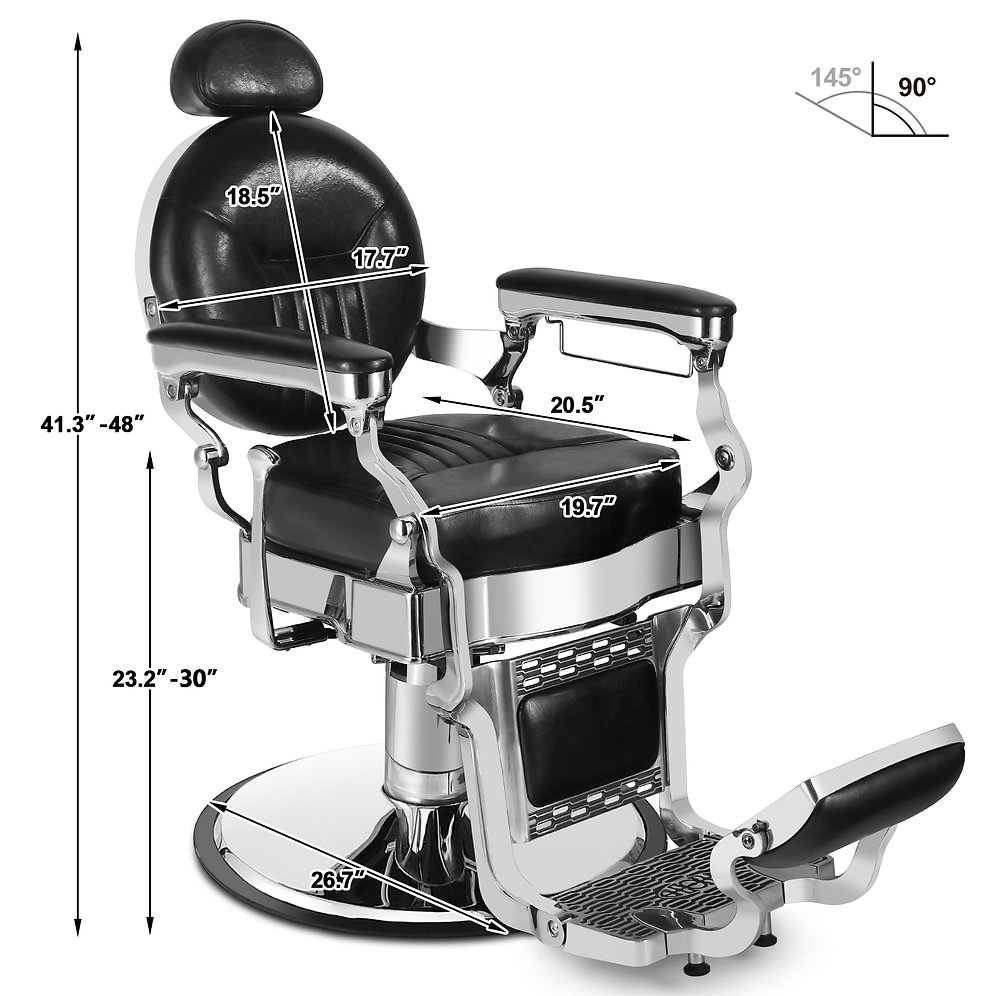 5029 Vintage Heavy Duty Hydraulic Reclining Barber Chair