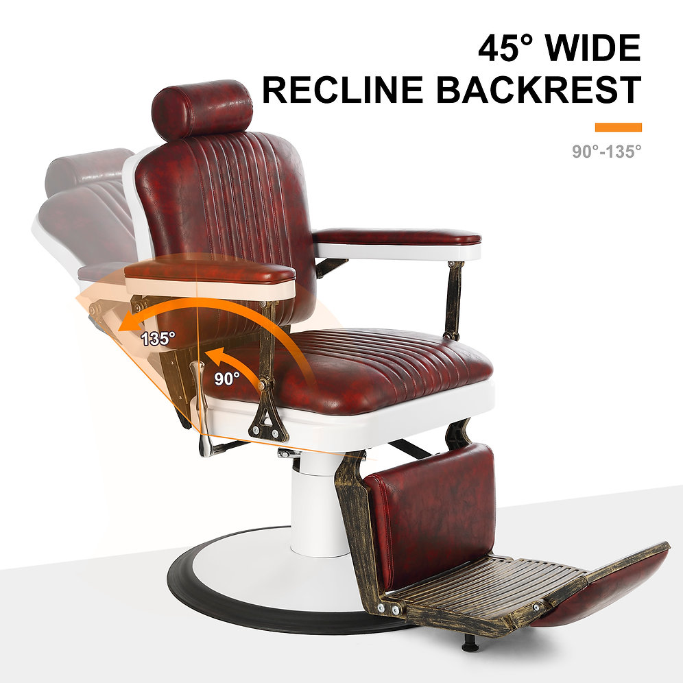 5119 Vintage Heavy Duty Hydraulic Reclining Barber Chair