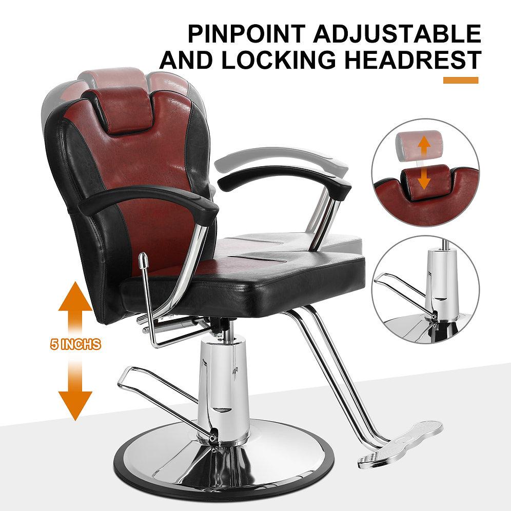 5506 All Purpose Hair Salon Reclining Barber Chair