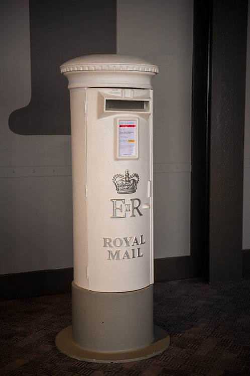 Free Standing Ivory Post Box
