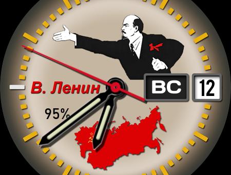 """Старый советский циферблат """"В.И.Ленин"""""""