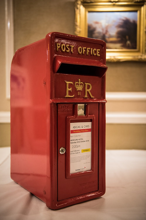 Red Table Top Post Box