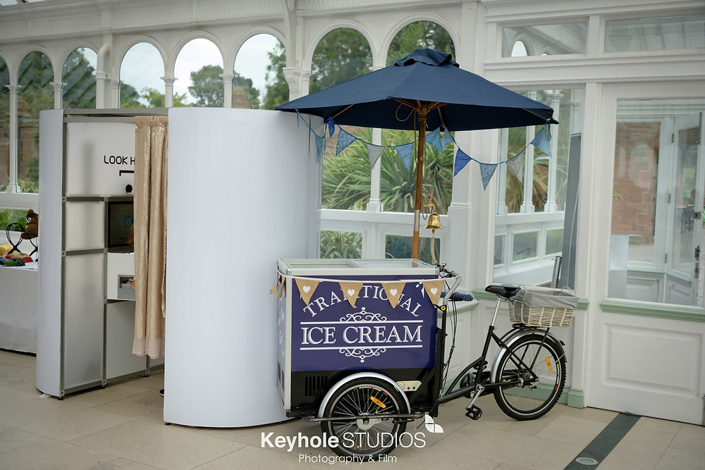 Photo booth and Ice cream Tricycle from Keyhole Studios