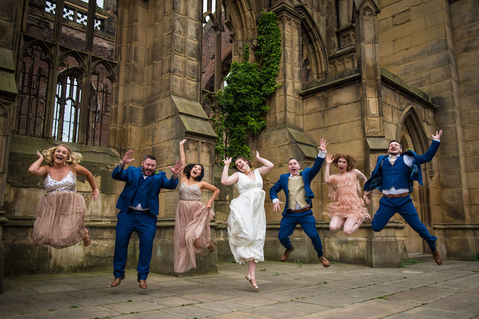 Bombed Out Church Wedding Photos