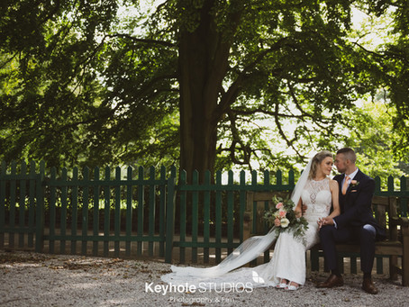 Through The Keyhole -Weddings At  Allerton Manor - The Hay Loft - From the Photographer