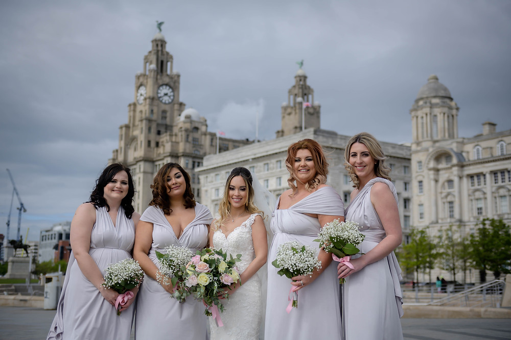 Wedding Photograph by Keyhole Studios wedding photography & film overlooking the Liver Building