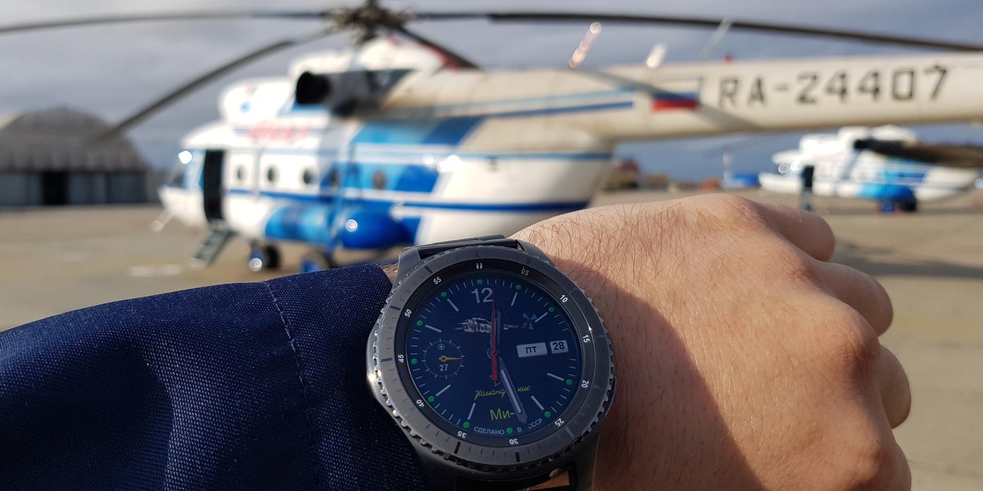 Ми-8 вживую и на часах