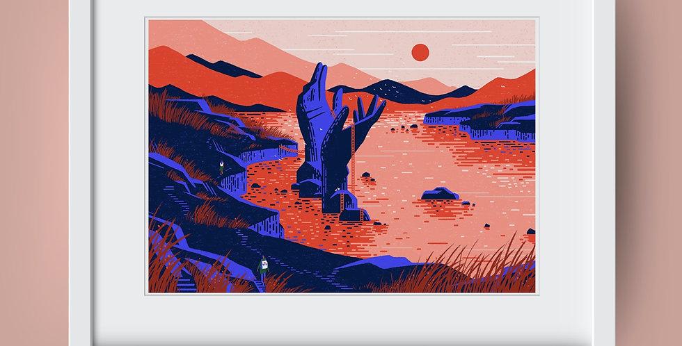 An Anthology vol.2 #3 Dark Cliff Illustration Giclée Art Print