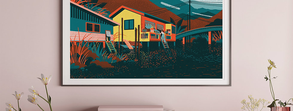 Floating House #2 Illustration Giclée Art Print