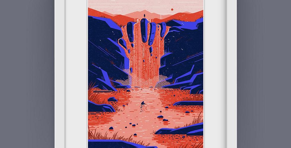 An Anthology vol.2 #2 Waterfall Illustration Giclée Art Print