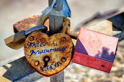 Santorini Love Locks