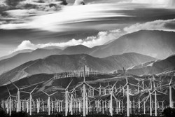 Clouds Windmills and Mountains