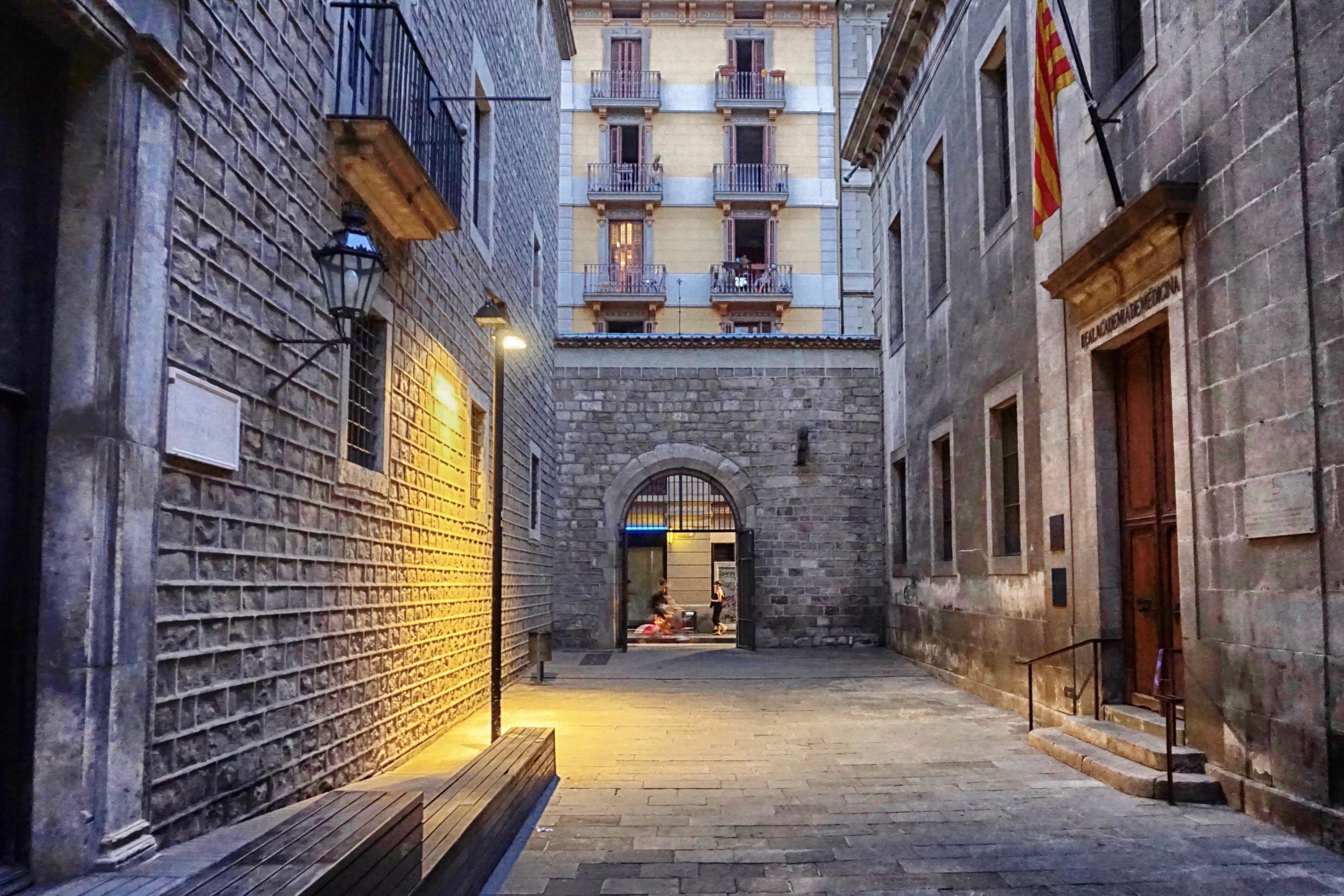 Street Light and Flag, Barcelona