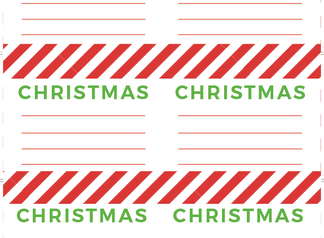 Free Christmas Storage Labels