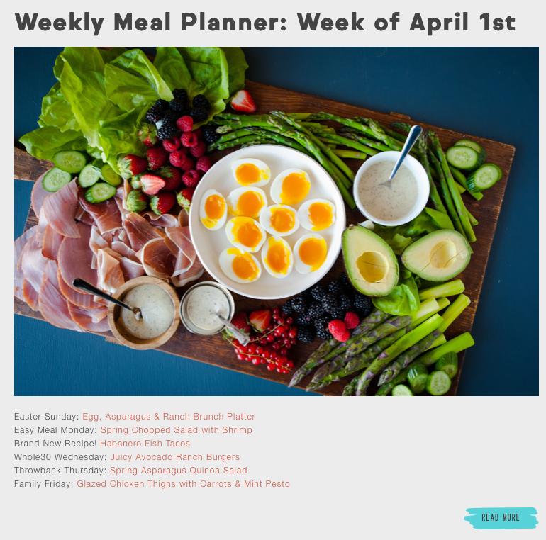Tessemae's Weekly Meal Planner