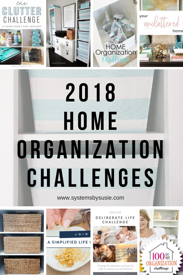 Home Organization Challenges Round Up