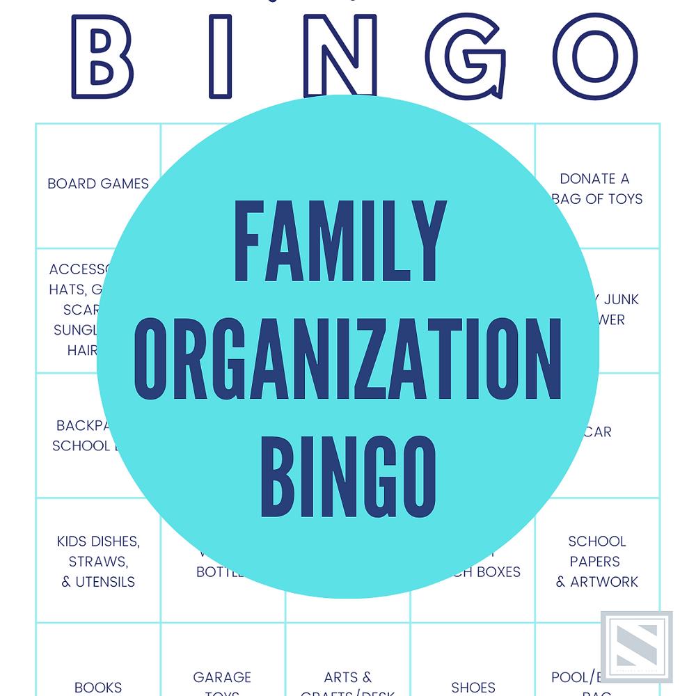 FAMILY ORGANIZATION BINGO