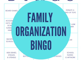 Family Organization BINGO