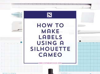 How to Make Custom Labels on a Silhouette Cameo- Beginners Tutorial
