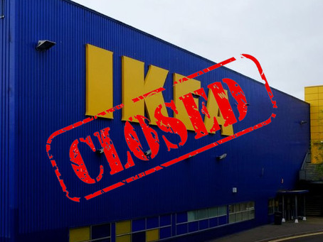 IKEA Closes its stores during Lockdown #2
