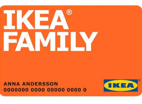 IKEA Family card membership.