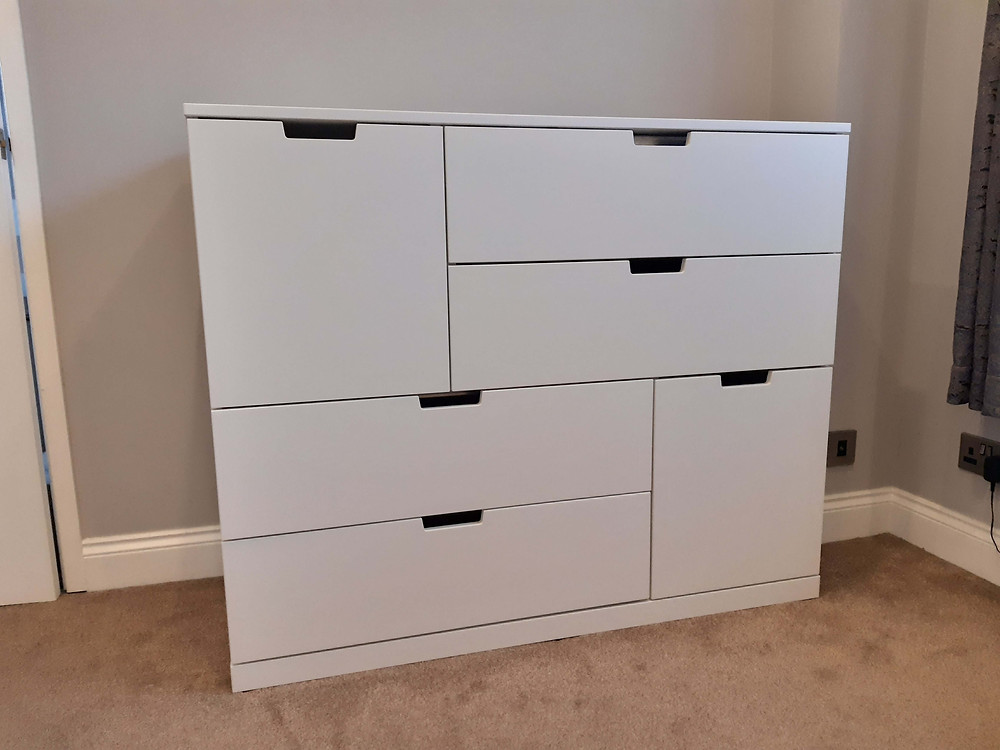 White IKEA Nordli Chest of 6 drawers