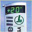 Neonpavia-Info Clock Outdoor