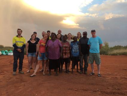 Lake Mackay project team