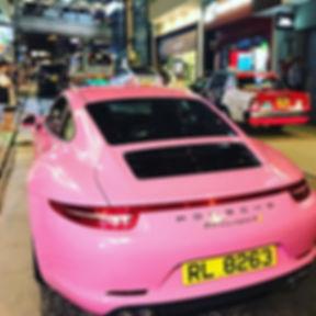 When you live in Hong Kong, you can afford to buy a Porche couleur bonbon 🤣 #onlyinhongkong #hongko