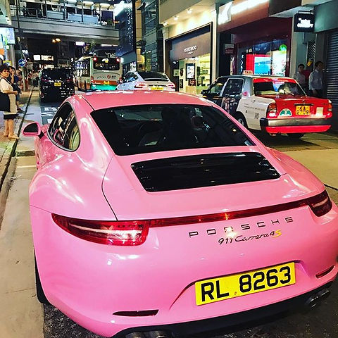 When you live in Hong Kong, you can afford to buy a Porche couleur bonbon 🤣 #onlyinhongkong #hongko