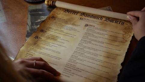Secret Sandwich Society Menu Redesign