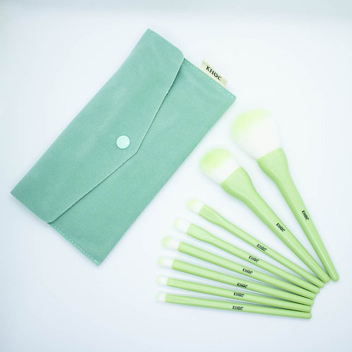 Set de Brochas x 8 unid Verde