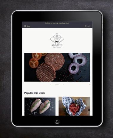 Website Design For Briggsy's Butcher in Jedburgh, Scottish Borders