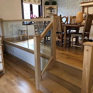 Oak & Glass Stair