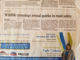 Article in the Missoulian: Research US Hwy 93 North Completed !
