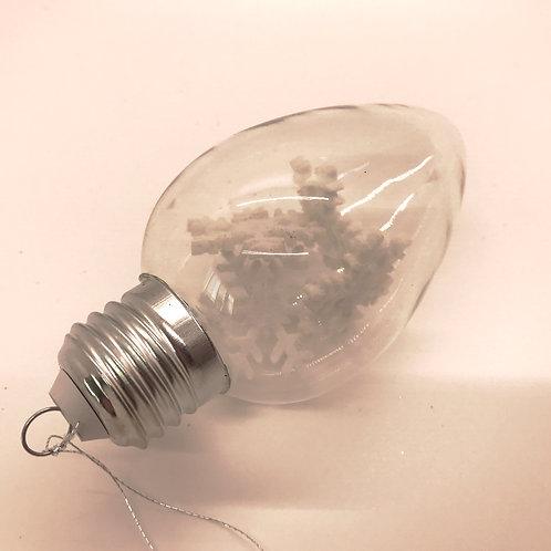 Light Bulb w/ Snowflake Ornament