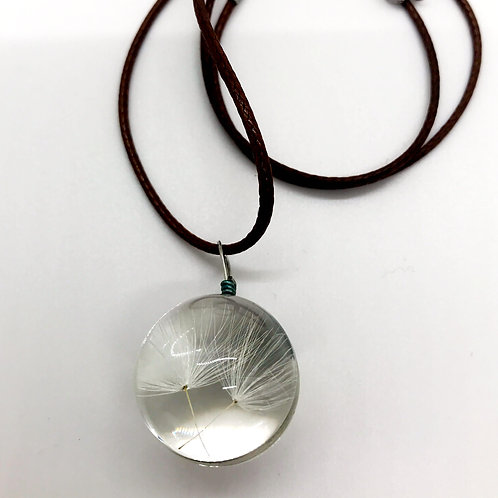 Dandelion Seed Globe Necklace
