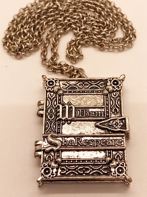 Old Book Locket Necklace