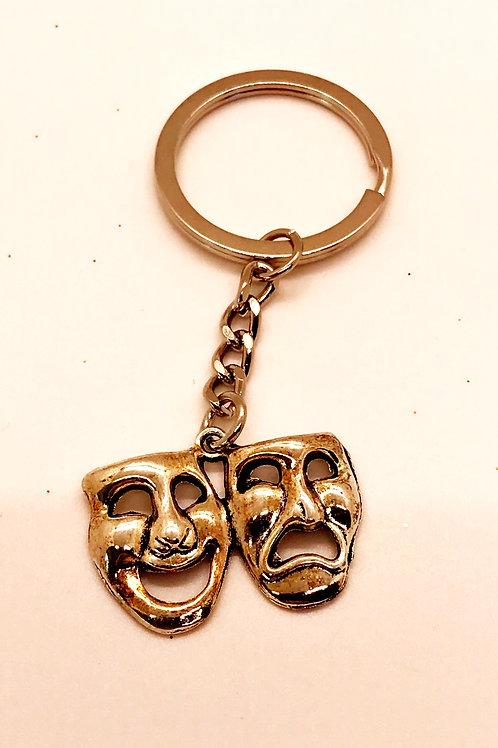 Comedy & Tragedy Keychain
