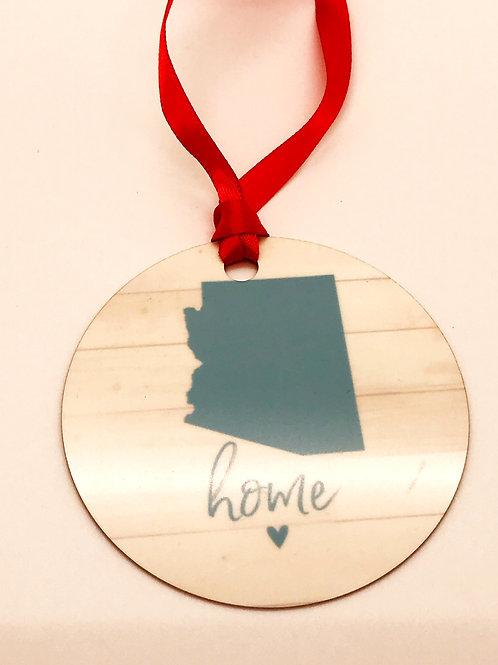Arizona Home Tin Ornament