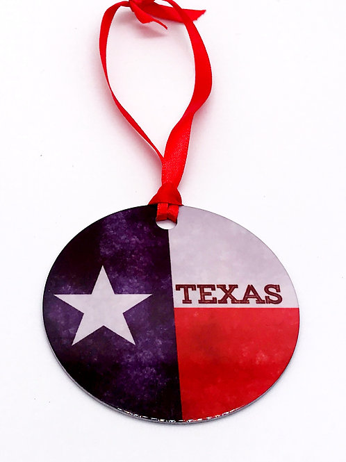 Texas Home Tin Ornament