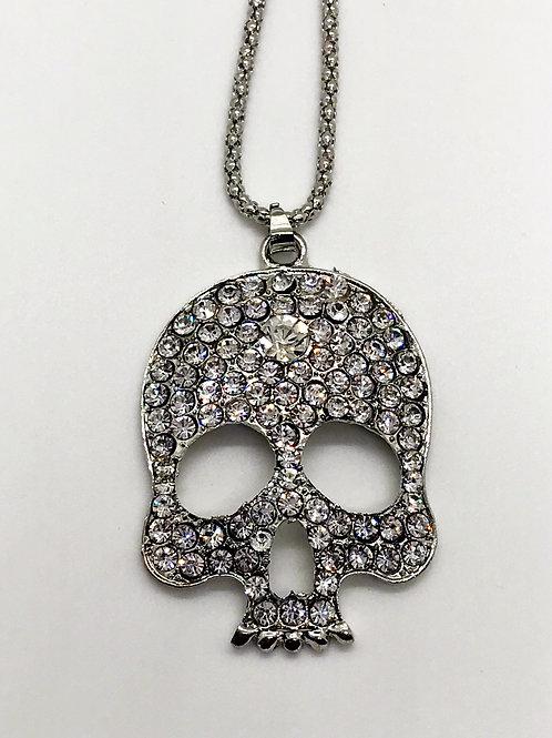 Studded Skull Necklace