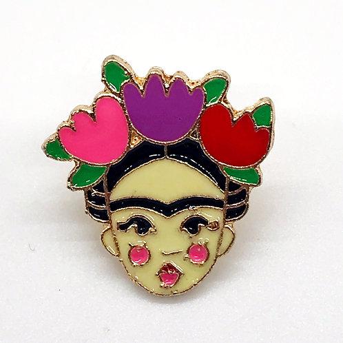 Frida Kahlo Face Pin