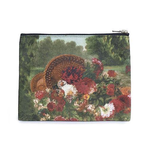 Delacroix 'Basket of Flowers' Zip Pouch