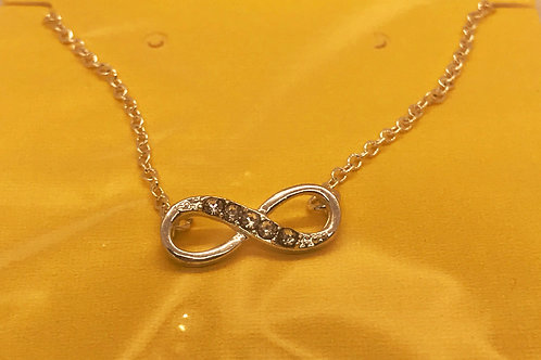 Infinity Studded Necklace