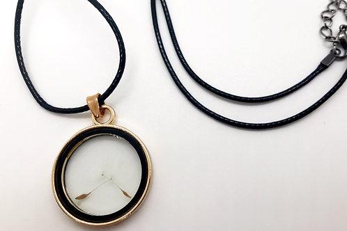Dandelion Seed Trinket Necklace