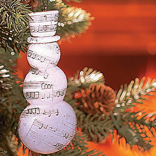 Music Note Snowman Ornament