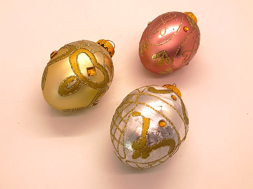 Hand Embellished Egg Ornament
