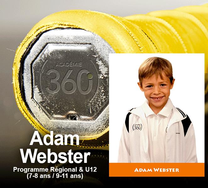 Le grip jaune du programme Régional/U12 est décerné a Adam Webster